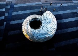 Orbit Pavilion pictured from above at the May 2015 World Science Festival at New York University. Photo courtesy NASA/JPL-Caltech