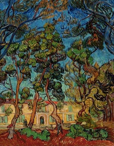 Vincent van Gogh, Dutch, 1853-1890, Hospital at Saint-Rémy, 1889, oil on canvas, 36 5/16 x 28. The Armand Hammer Collection, gift of the Armand Hammer Foundation. Hammer Museum, Los Angeles.